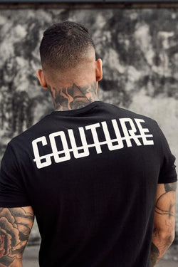 Fresh Couture Back Logo Longline Tee - Black - 4