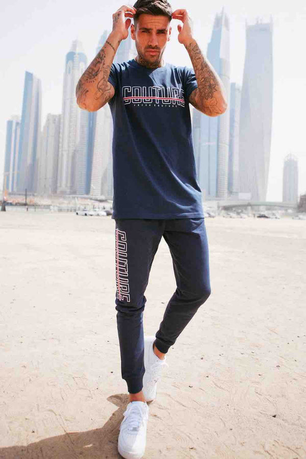 Fresh Couture Bonneval T Shirt - Navy - 1