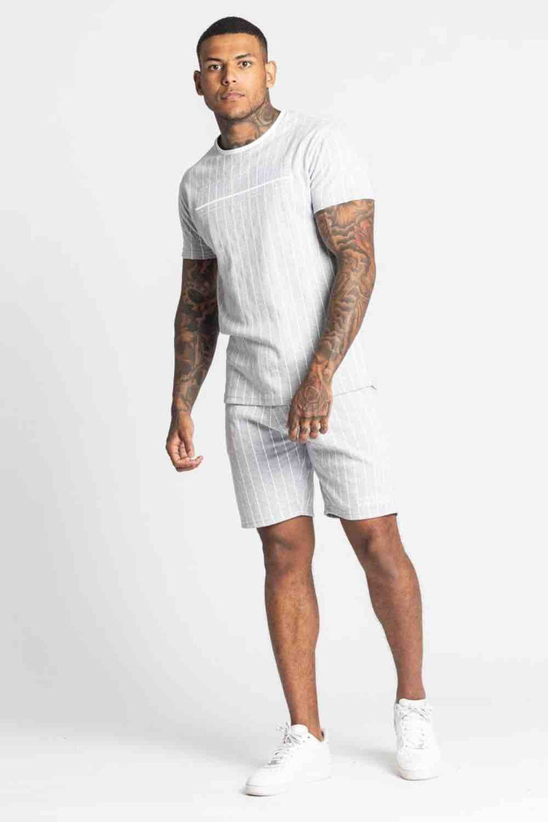 Fresh Couture Brousse Shorts - Grey/White  - 1