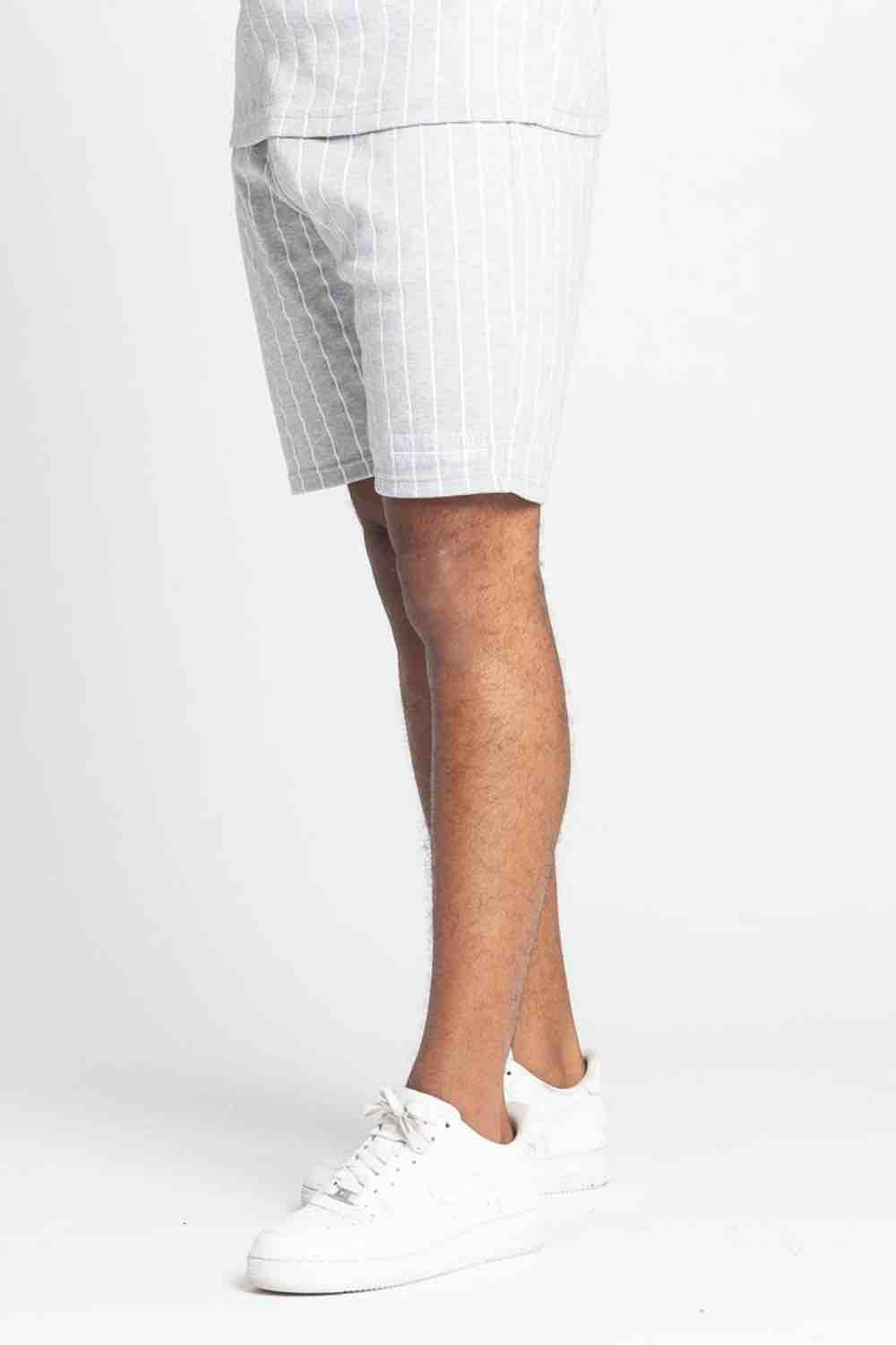 Fresh Couture Brousse Shorts - Grey/White - 4