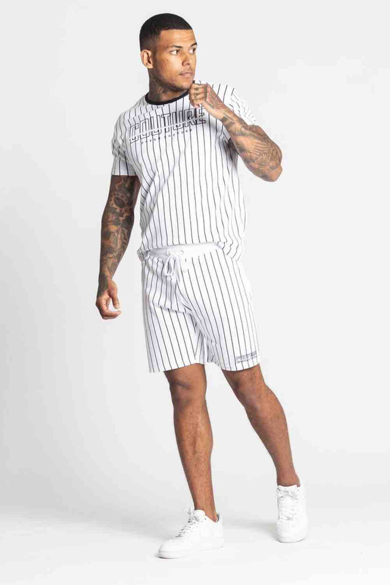 Fresh Couture Brousse Shorts - White/Black - 1