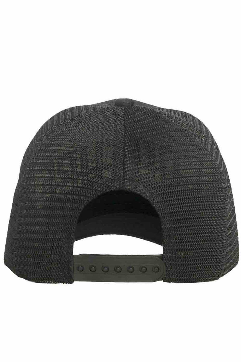 Fresh Couture Distressed Trucker Cap - Black/Gold - 2