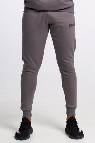 Fresh Couture Fitted Fleece Pants - Steel Grey - 1