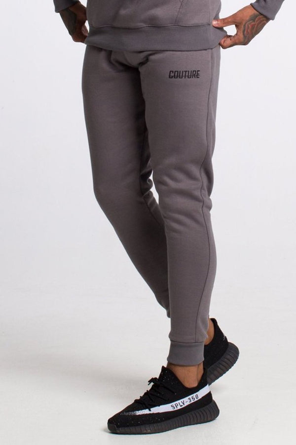 Fresh Couture Fitted Fleece Pants - Steel Grey - 2