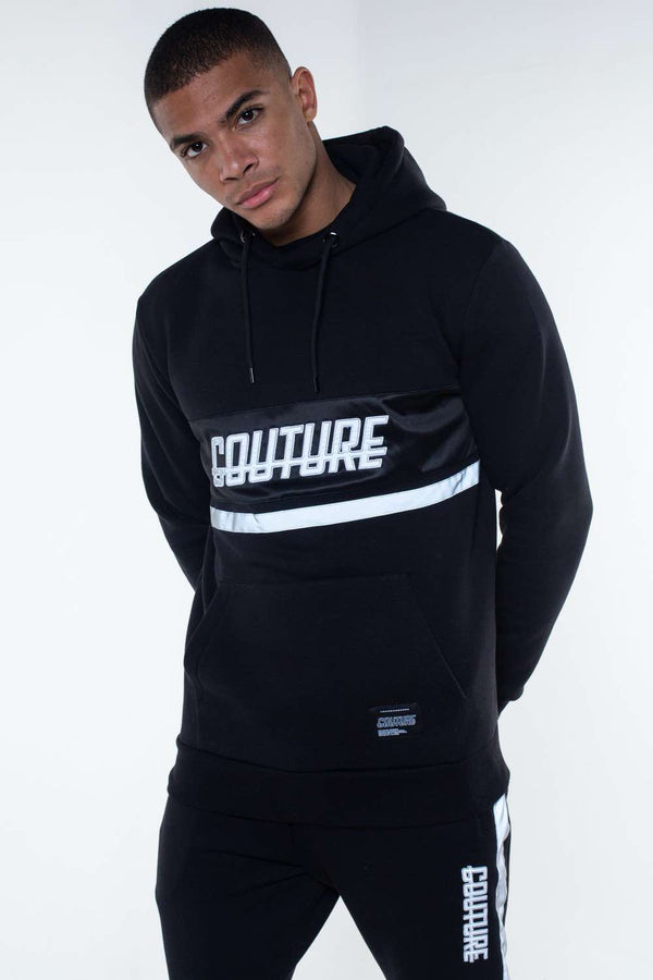 Fresh Couture Flash Reflective Hoodie -  Black