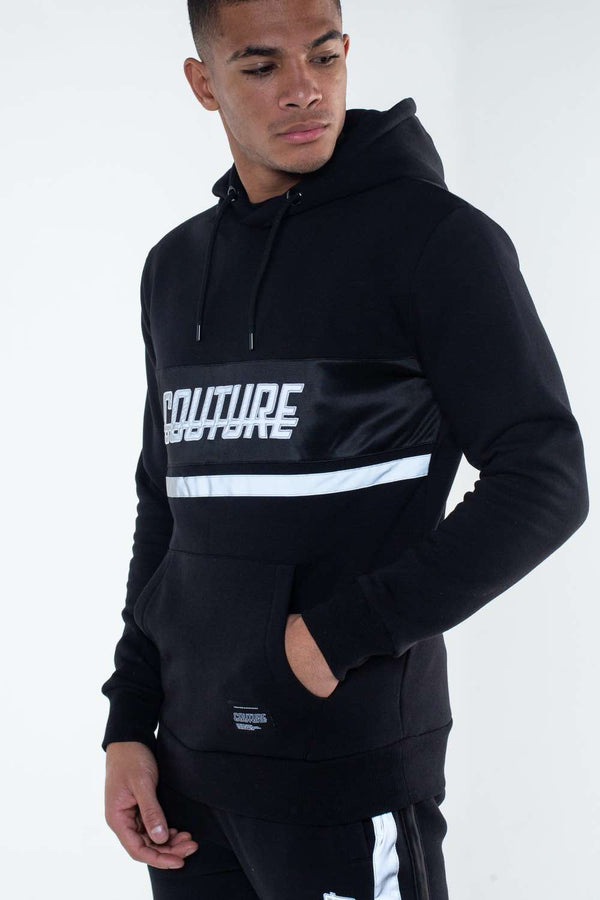 Fresh Couture Flash Reflective Hoodie -  Black - 1