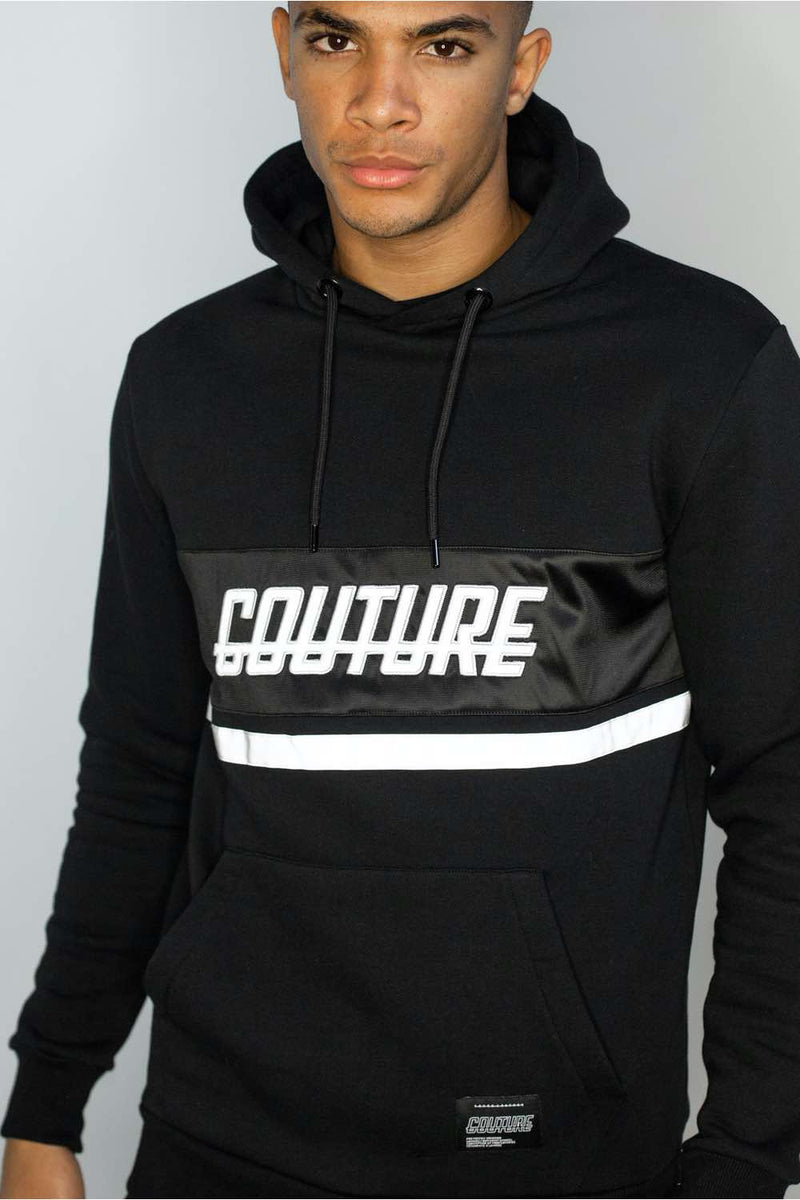 Fresh Couture Flash Reflective Hoodie -  Black - 2