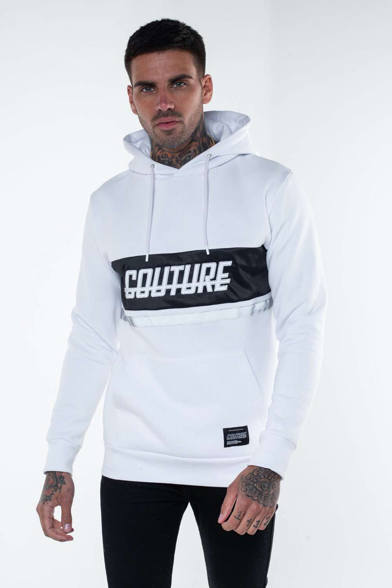 Fresh Couture Flash Reflective Hoodie -  White