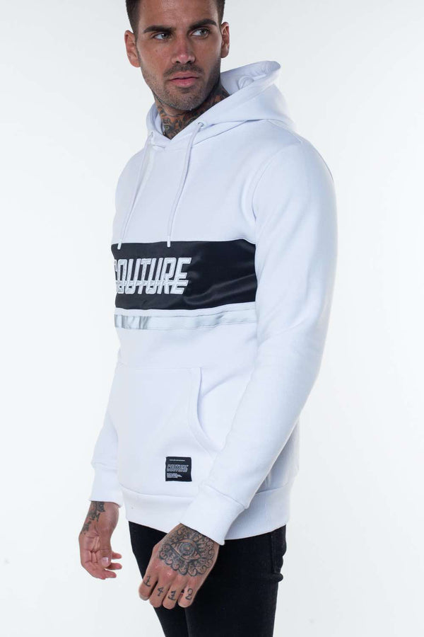 Fresh Couture Flash Reflective Hoodie -  White - 1