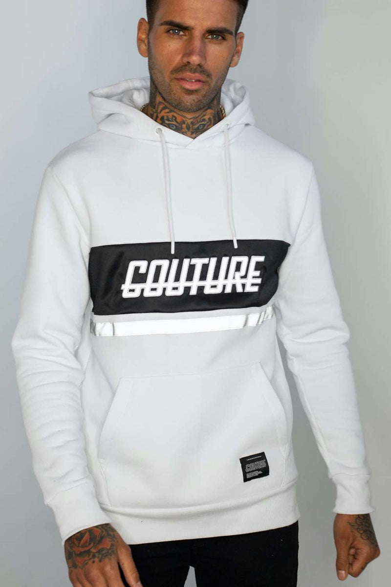 Fresh Couture Flash Reflective Hoodie -  White - 2