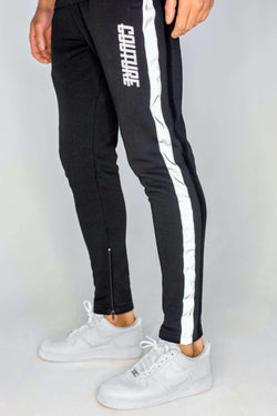 Fresh Couture Flash Reflective Joggers - Black