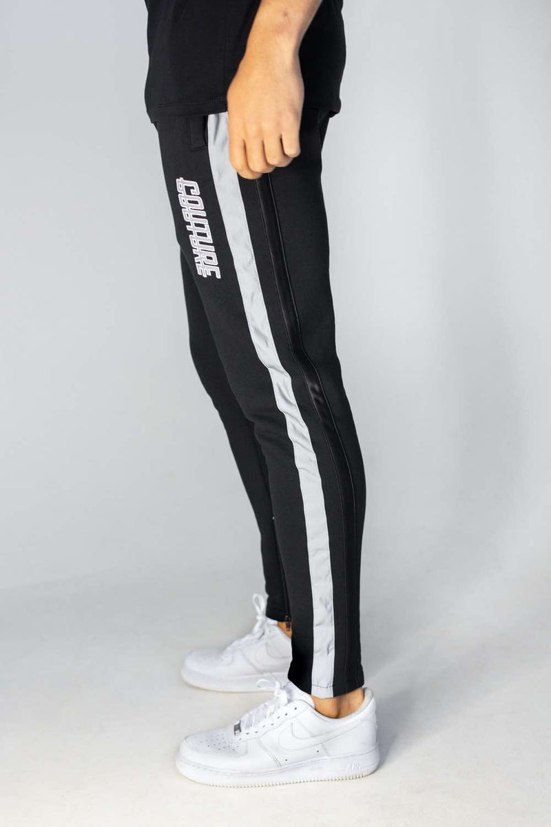 Fresh Couture Flash Reflective Joggers - Black - 1