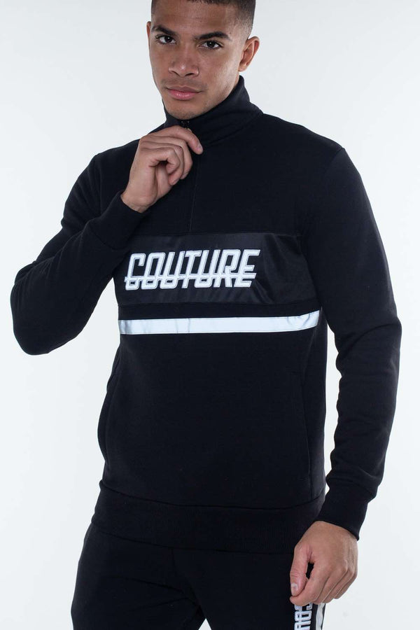 Fresh Couture Flash Reflective Quarter Zip - Black - 1