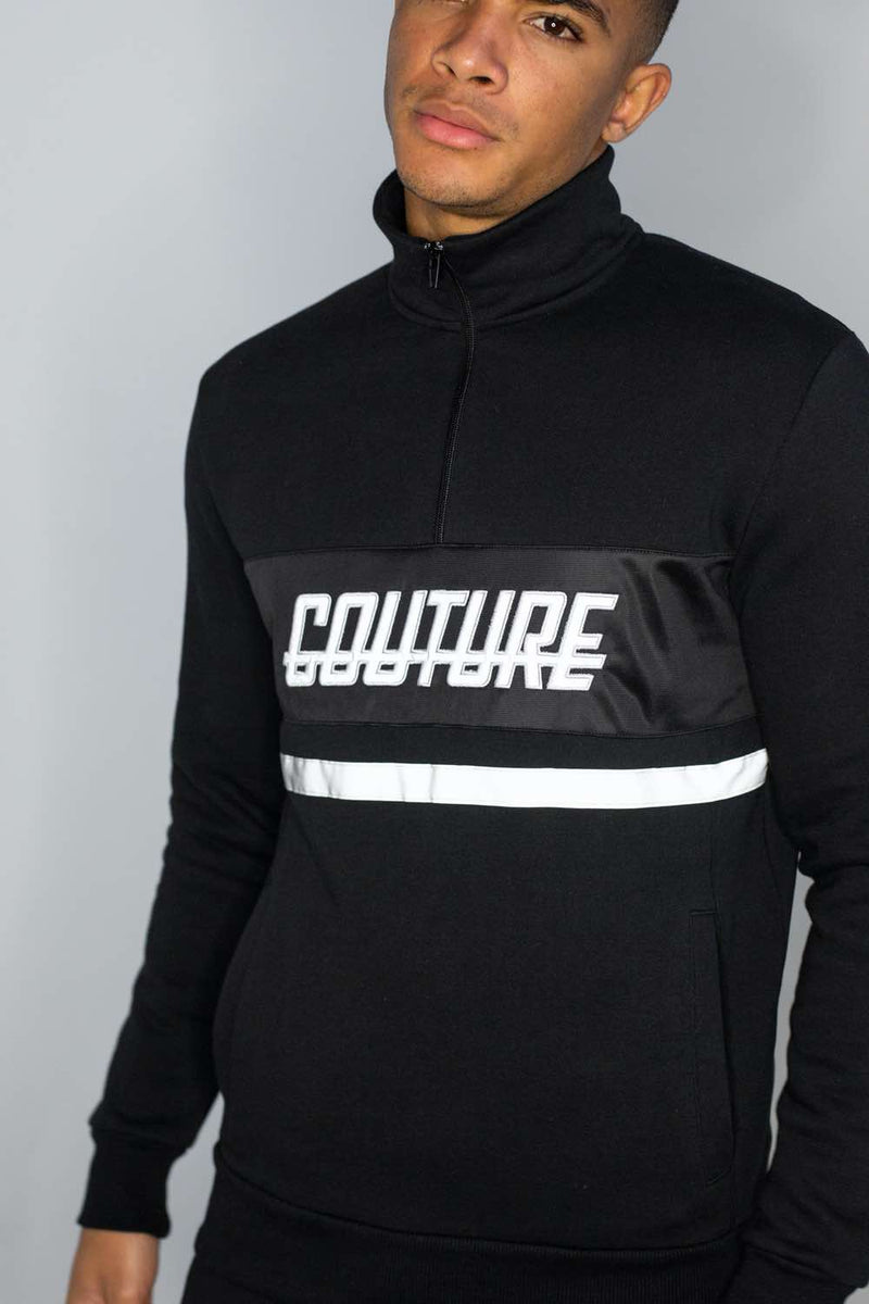 Fresh Couture Flash Reflective Quarter Zip - Black - 2