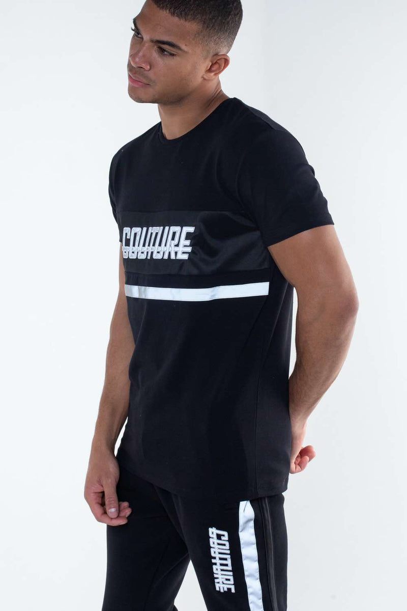 Fresh Couture Flash Reflective T-Shirt - Black - 2
