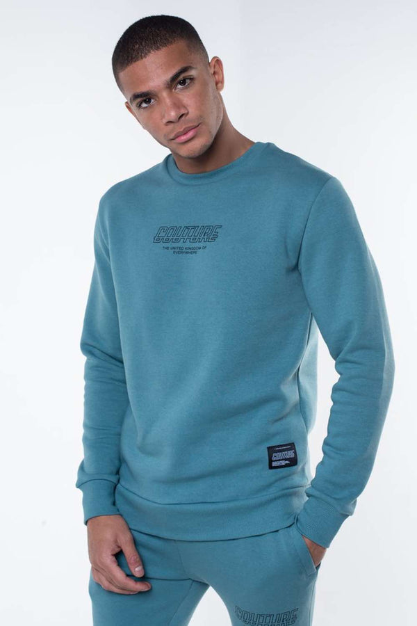 Fresh Couture Flux Sweatshirt - Teal