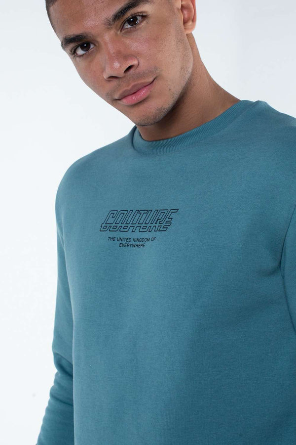 Fresh Couture Flux Sweatshirt - Teal - 1
