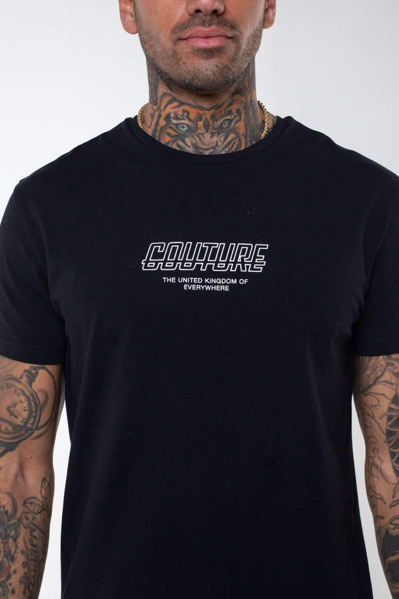 Fresh Couture Flux T Shirt -  Black - 1