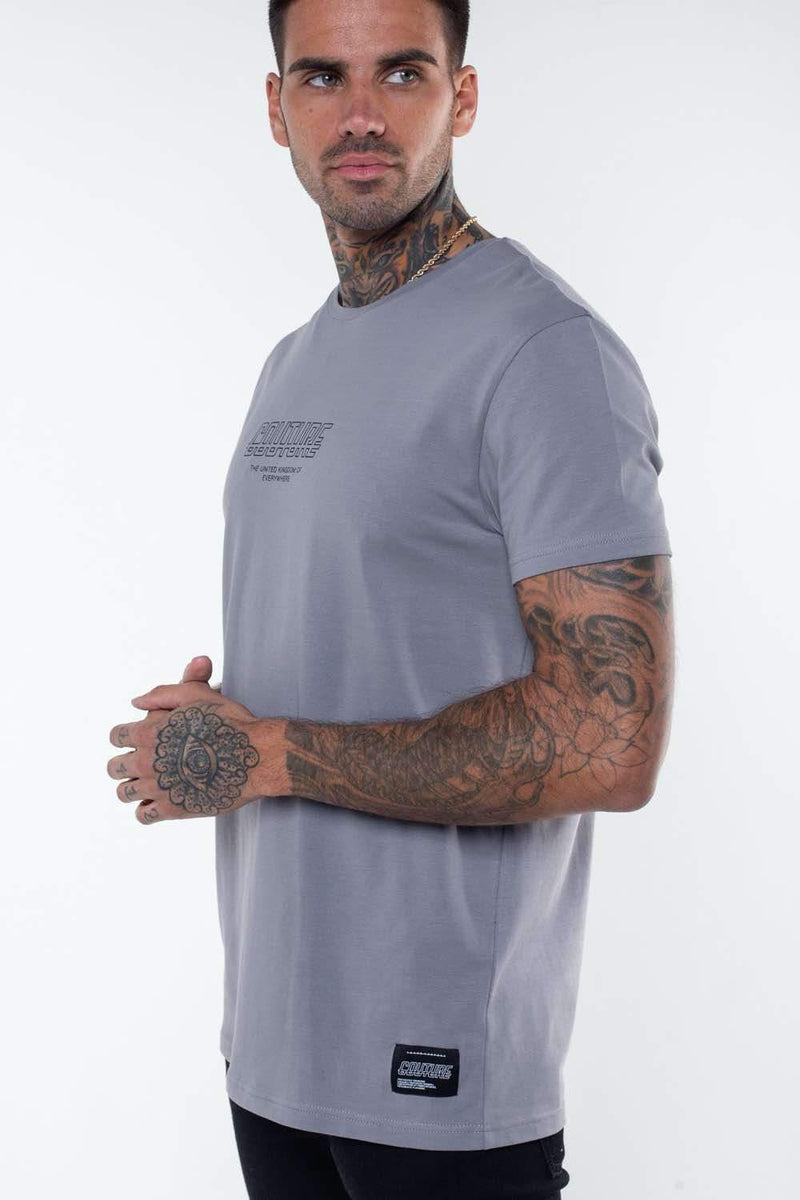 Fresh Couture Flux T Shirt - Steel Grey - 2