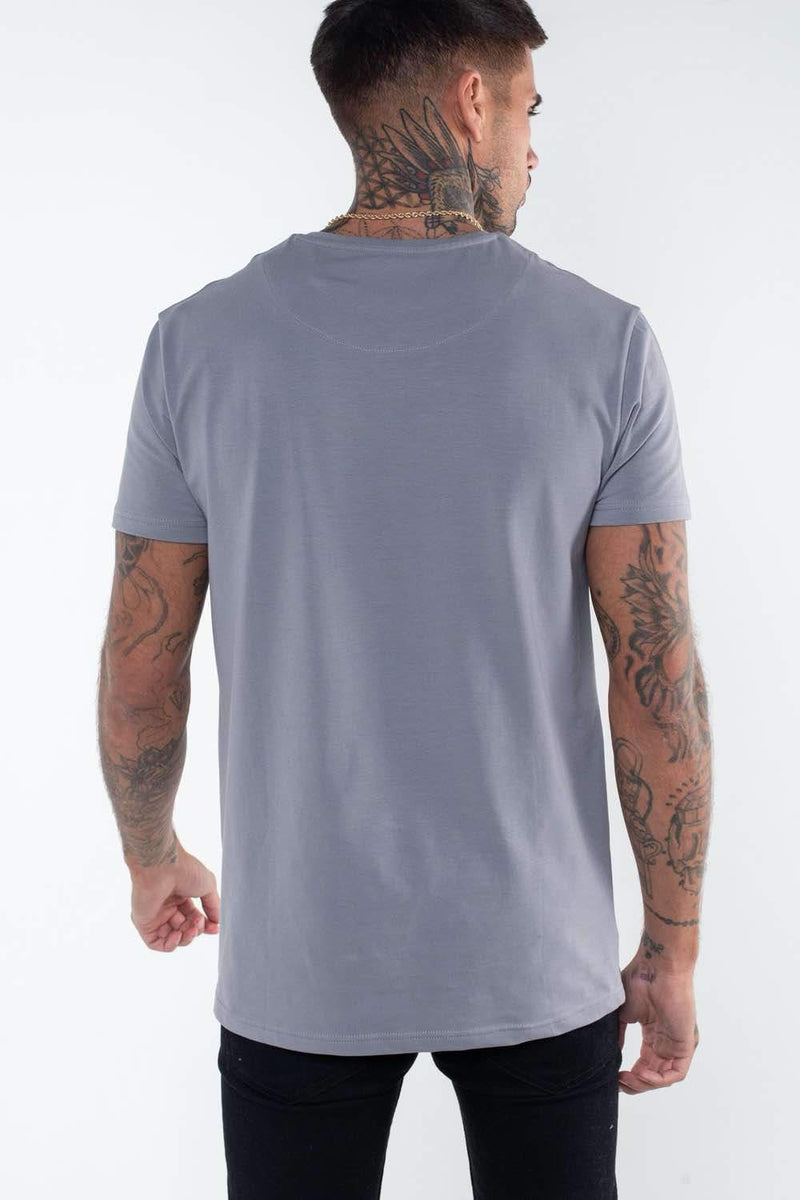 Fresh Couture Flux T Shirt - Steel Grey - 3