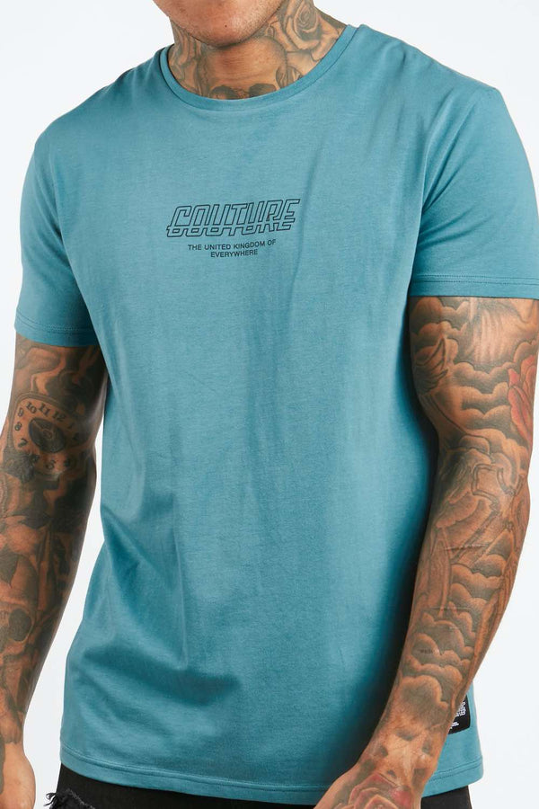 Fresh Couture Flux T Shirt - Teal - 1