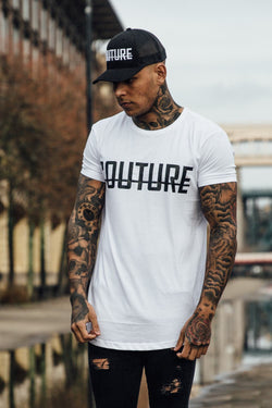 Fresh Couture Logo Longline Tee - White