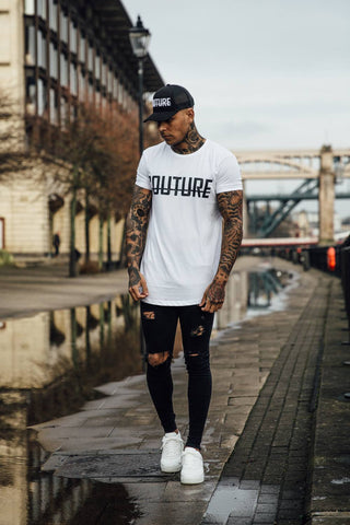 Fresh Couture Logo Longline Tee - White - 1