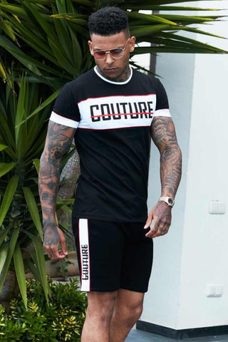 Fresh Couture Miami T-Shirt - Black/White/Red