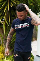 Fresh Couture Milan T-Shirt - Navy - 3