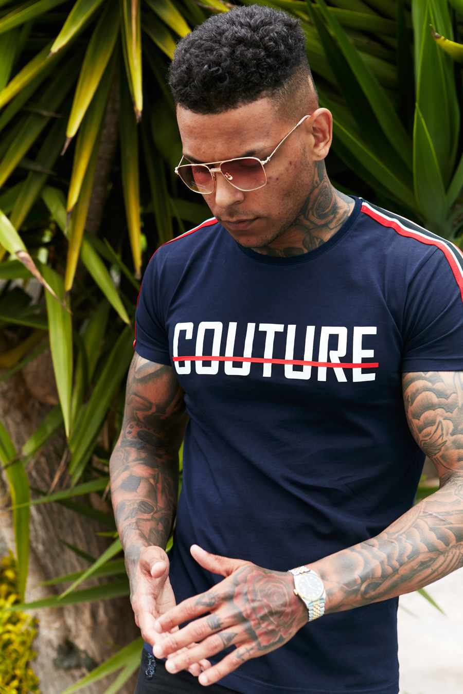 Fresh Couture Milan T-Shirt - Navy - 2