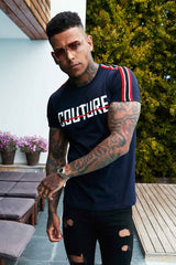 Fresh Couture Milan T-Shirt - Navy