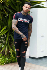 Fresh Couture Milan T-Shirt - Navy - 1
