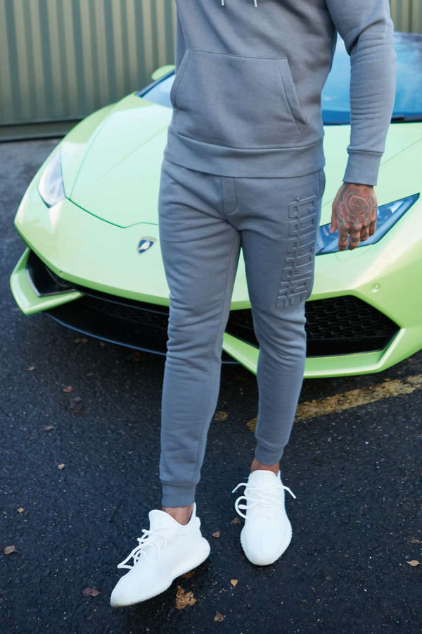 Fresh Couture  Monaco Joggers - Steel Grey - 3