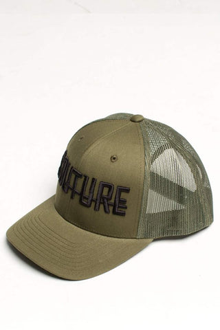 Fresh Couture Round Peak Trucker Cap - Khaki - 1