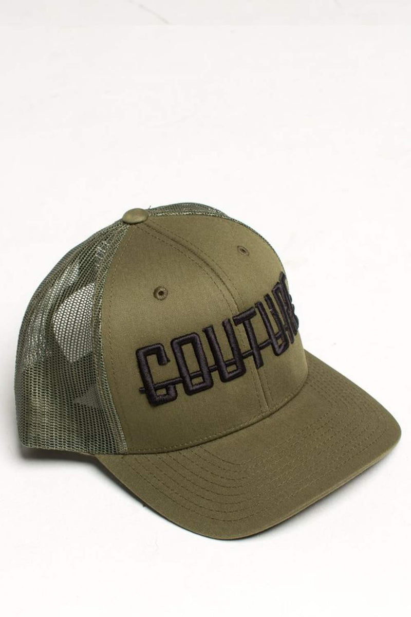 Fresh Couture Round Peak Trucker Cap - Khaki