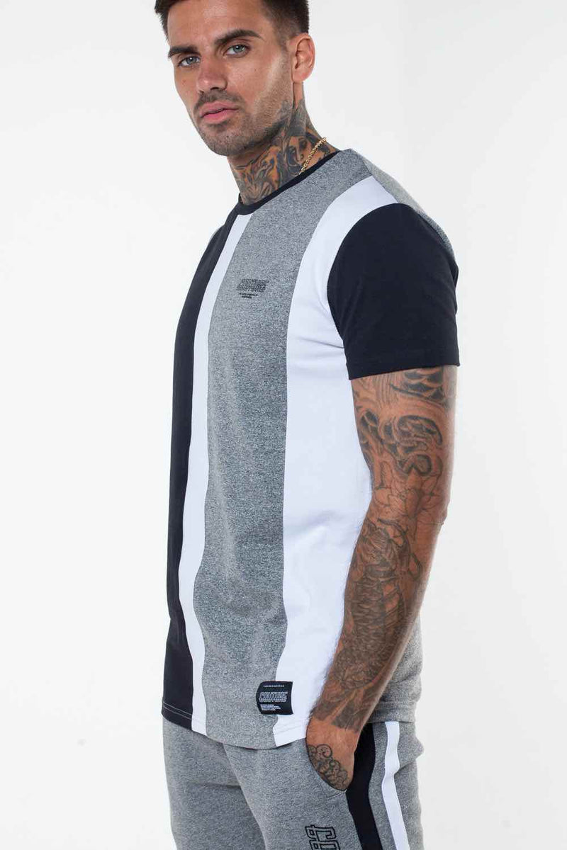 Fresh Couture Valencia T-Shirt - Grey/Black - 1
