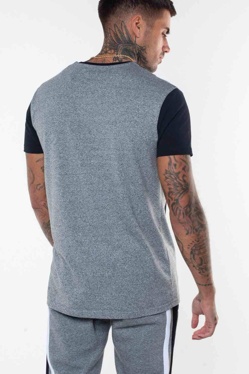 Fresh Couture Valencia T-Shirt - Grey/Black - 4