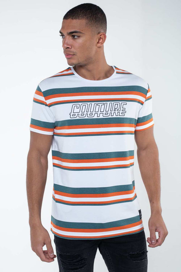 Fresh Couture Vigo T-shirt - White/Rustic/Teal
