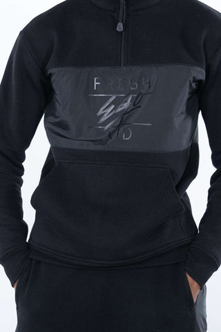 Fresh Ego Kid 1/2 Zip Tracksuit - Black - 1