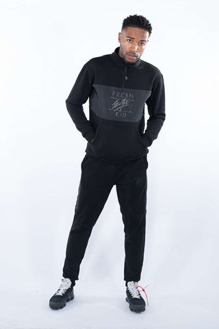 Fresh Ego Kid 1/2 Zip Tracksuit - Black