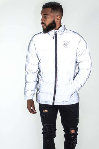 Fresh Ego Kid 3M Reflective Puffer Jacket - Silver - 1