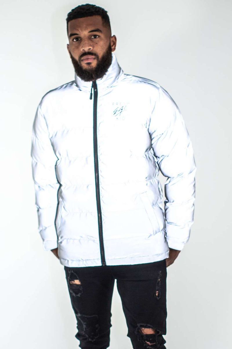 Fresh Ego Kid 3M Reflective Puffer Jacket - Silver - 3
