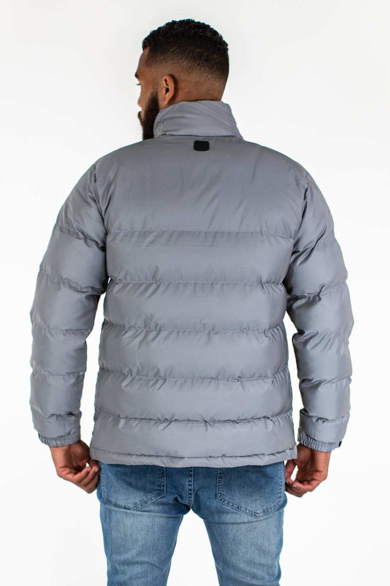 Fresh Ego Kid 3M Reflective Puffer Jacket - Silver - 2