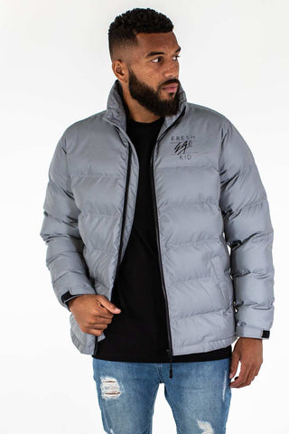 Fresh Ego Kid 3M Reflective Puffer Jacket - Silver