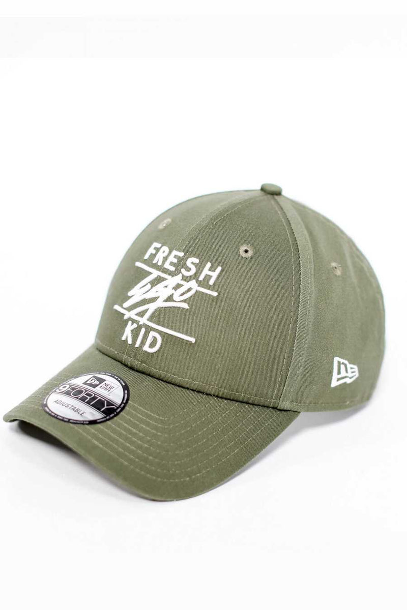 Fresh Ego Kid 9FORTY New Era Cap - Olive/White
