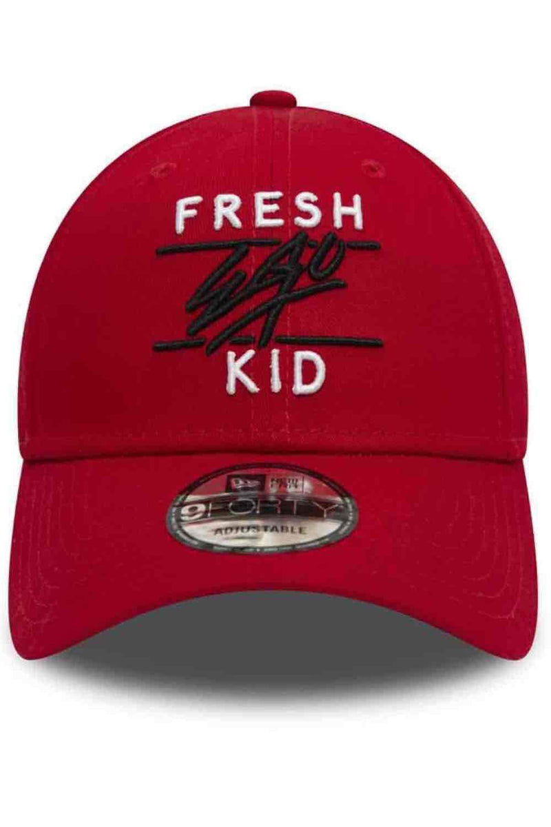 Fresh Ego Kid 9FORTY New Era Polo Cap - Red/White