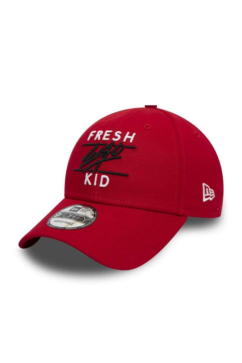 Fresh Ego Kid 9FORTY New Era Polo Cap - Red/White - 1