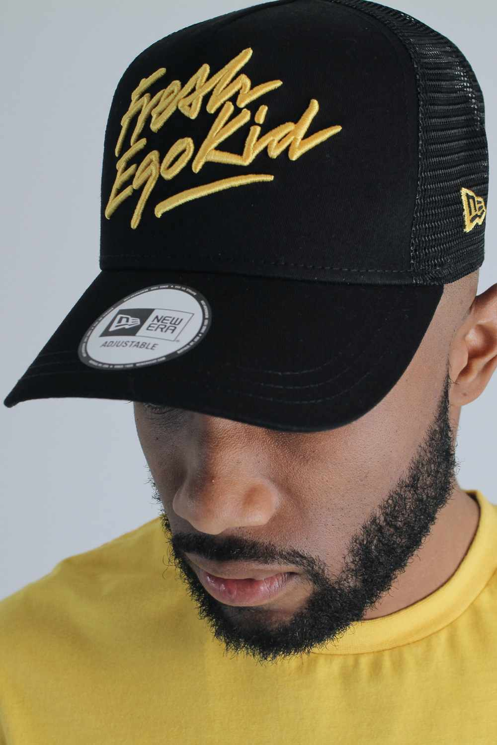 Fresh Ego Kid 9FORTY New Era Trucker Cap - Black/Yellow - 2