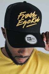 Fresh Ego Kid 9FORTY New Era Trucker Cap - Black/Yellow