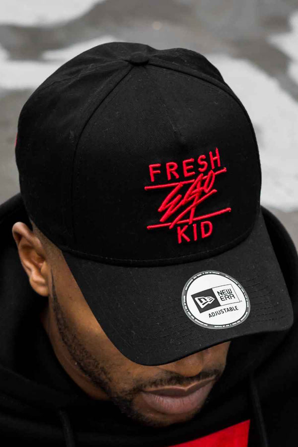 Fresh Ego Kid Adjustable Cotton Twill New Era Cap - Black/Red - 1